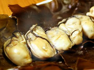 牡蠣の昆布〆焼