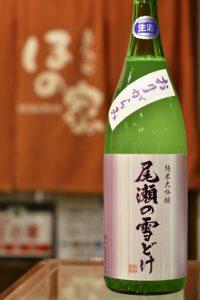 尾瀬の雪どけ 裏新酒おりがらみ 純米大吟醸