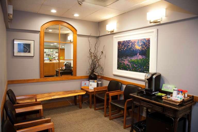Kaka'ako Smiles dental office, waiting area