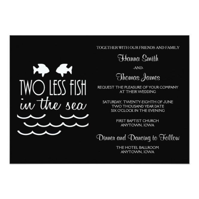 Two Less Fish In The Sea Wedding Honor And Obey