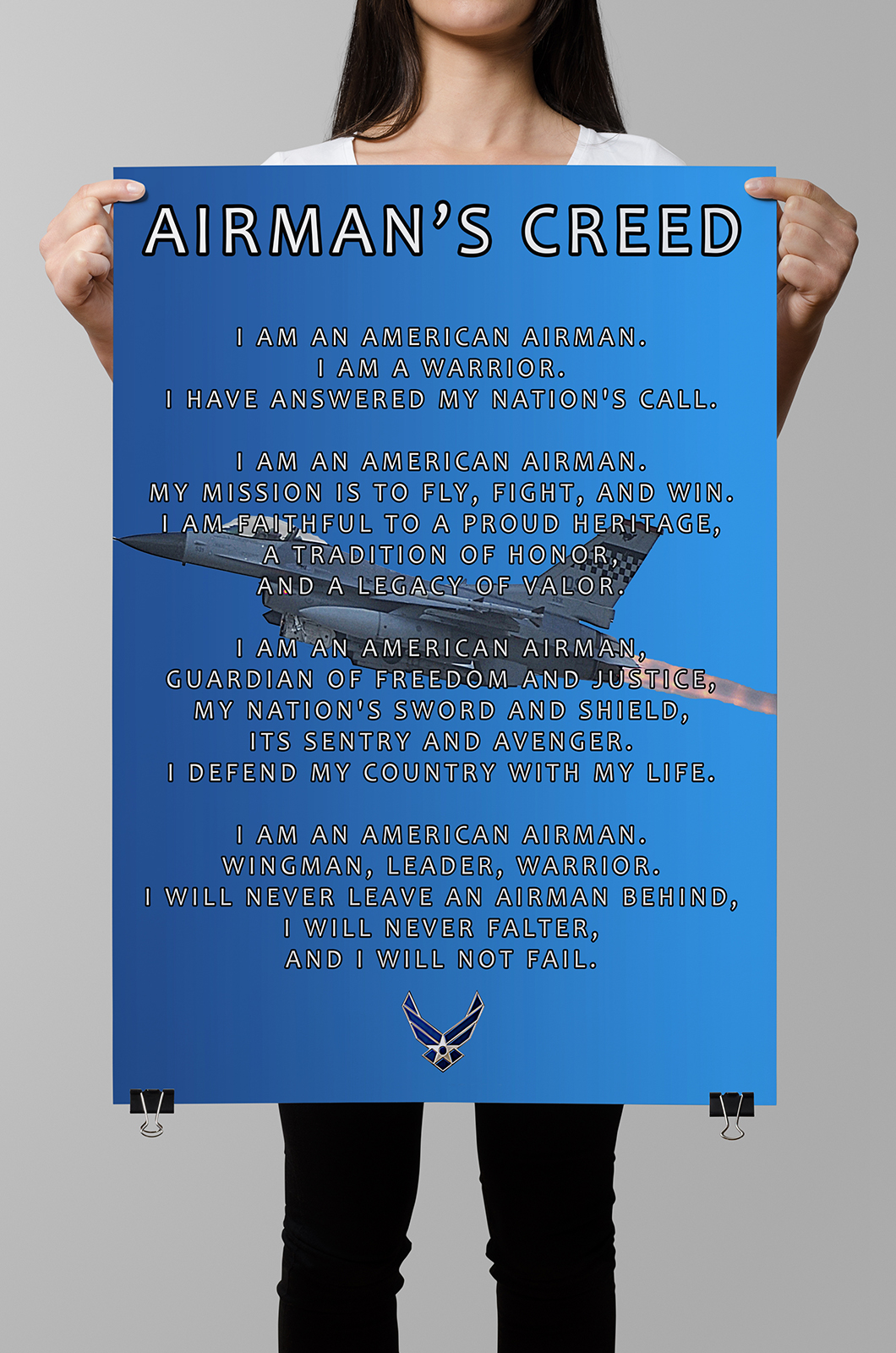 Airmans creed poster honor duty valor airmans creed poster altavistaventures Choice Image
