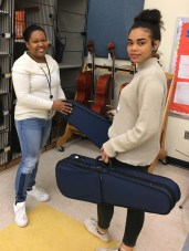 Presenting Violins to Teacher