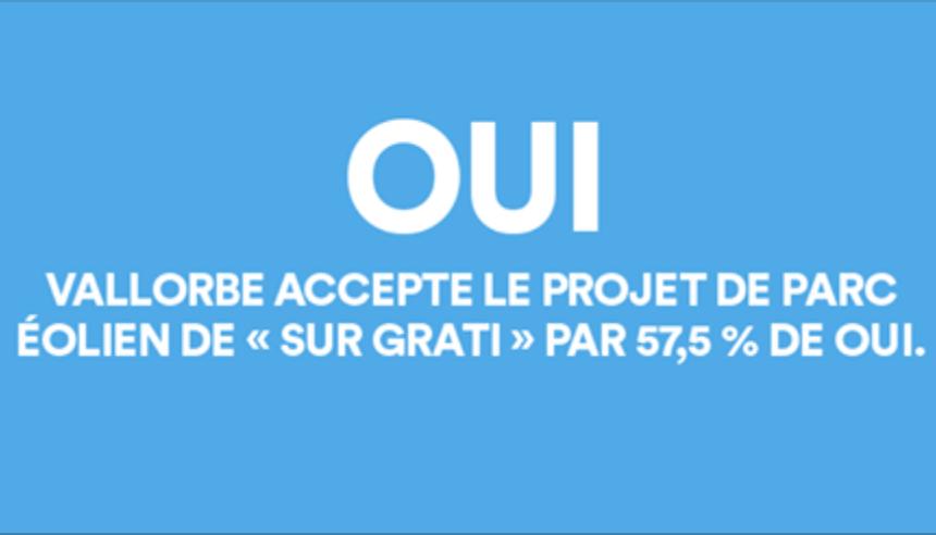 """""""Sur Grati"""" accepté par le peuple à Vallorbe"""