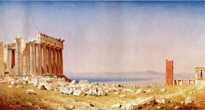 Ruins of the Parthenon: 1880