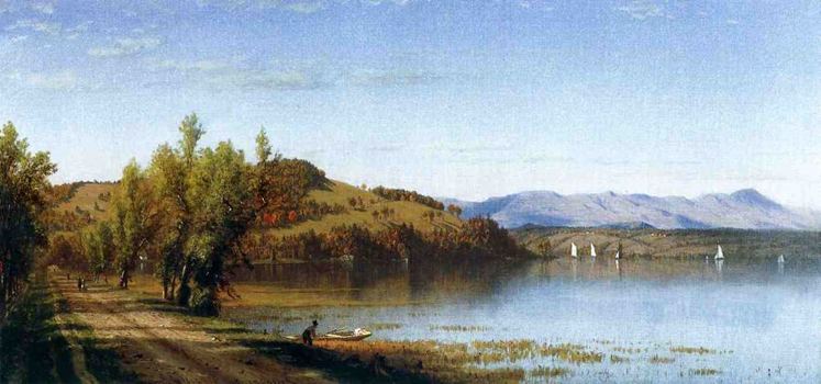 South Bay, on the Hudson, near Hudson, New York: 1864