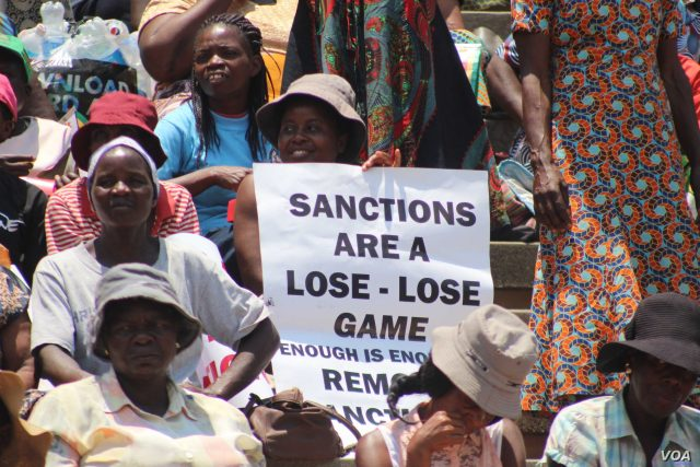 Protests against US Sanctions in Zimbabwe