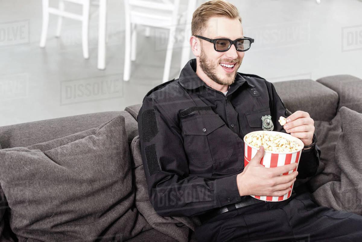 Pig eating popcorn - don't beef on social media!