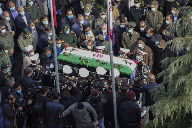 A state funeral for Mohsen Fakhrizadeh, an Iranian nuclear scientist assassinated by Israel.