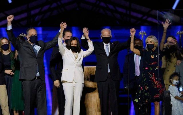 Joe Biden, Jill Biden, Doug Emhoff, Kamala Harris