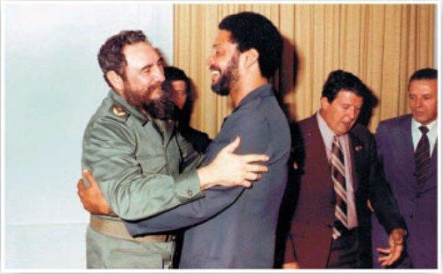Fidel Castro and Maurice Bishop in Cuba