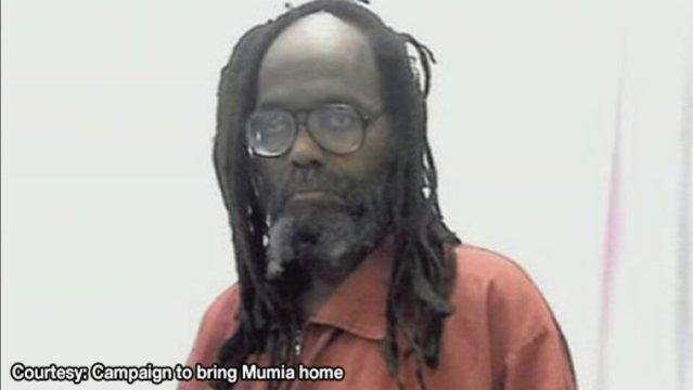 An elderly Mumia Abu-Jamal