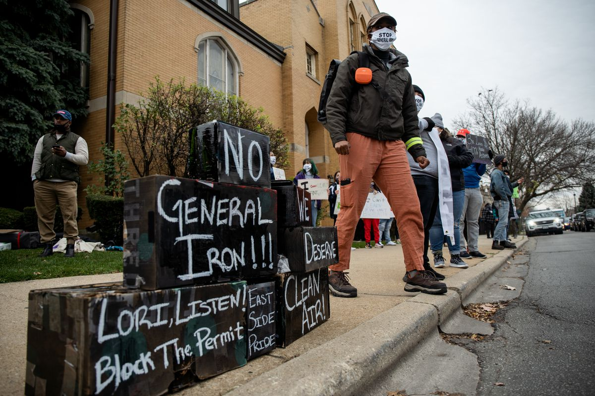 Protest against General Iron in Chicago
