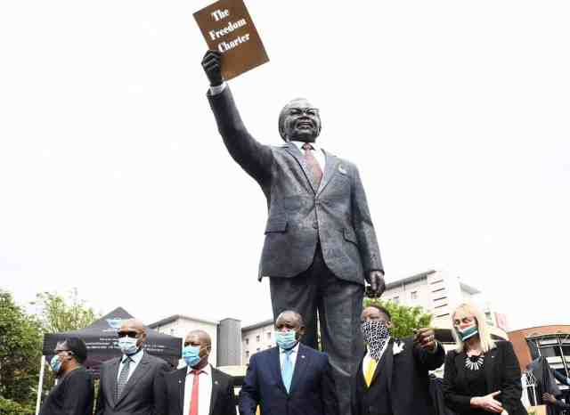 A statue of Oliver Tambo in South Africa