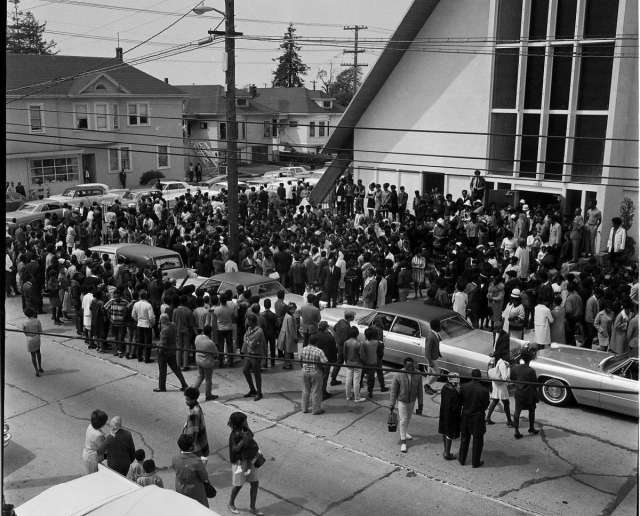 Funeral for Black Panther Party member Bobby Hutton