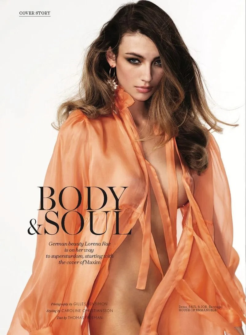 Lorena Rae in 'Body & Soul' for Maxim May 2020 Issue. Photographed by Gilles Bensimon and styled by Caroline Christiansson.
