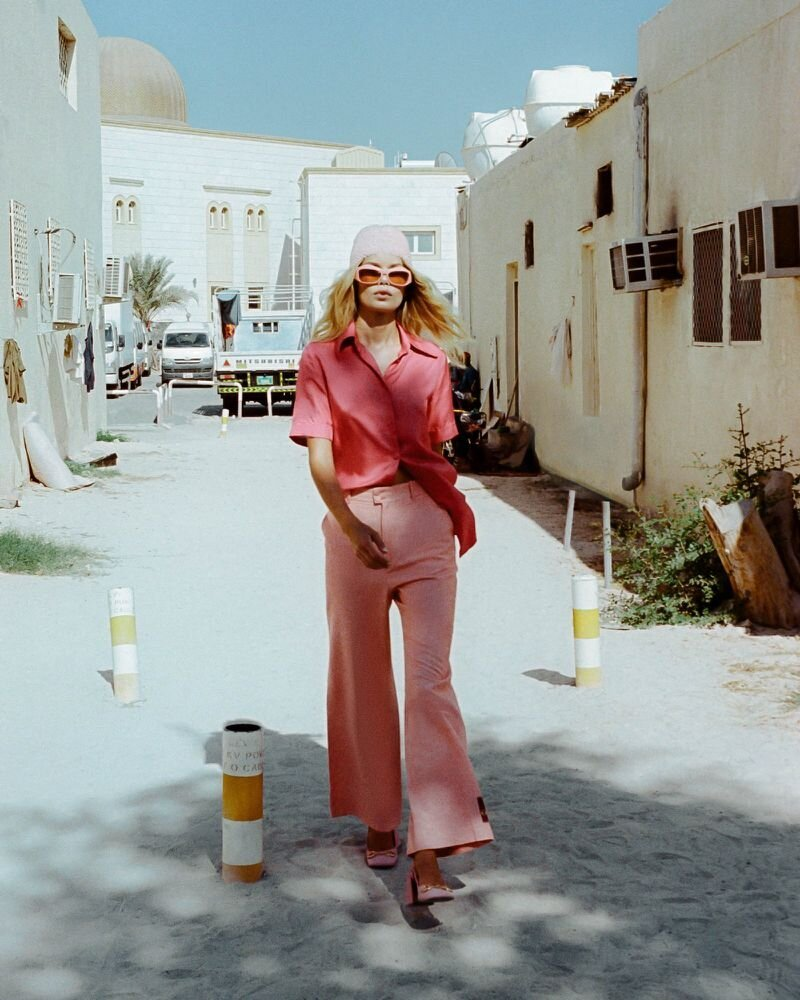 Frida Aasen for Vogue Arabia's January 2021 issue. Photographed by Ämr Ezzeldinn.