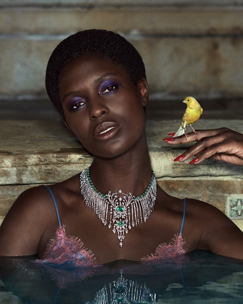Jodie Smith-Turner is the star for Gucci High Jewellery Campaign, photographed by Glen Luchford.