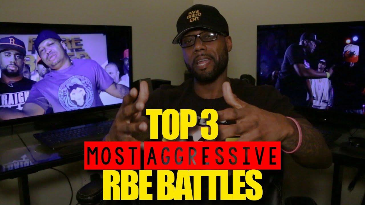 TOP 3 MOST AGGRESSIVE RBE RAP BATTLES