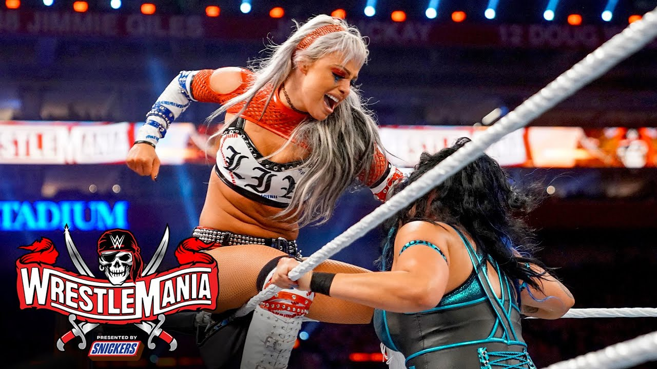 The Riott Squad put teamwork on display: WrestleMania 37 – Night 1 (WWE Network Exclusive)