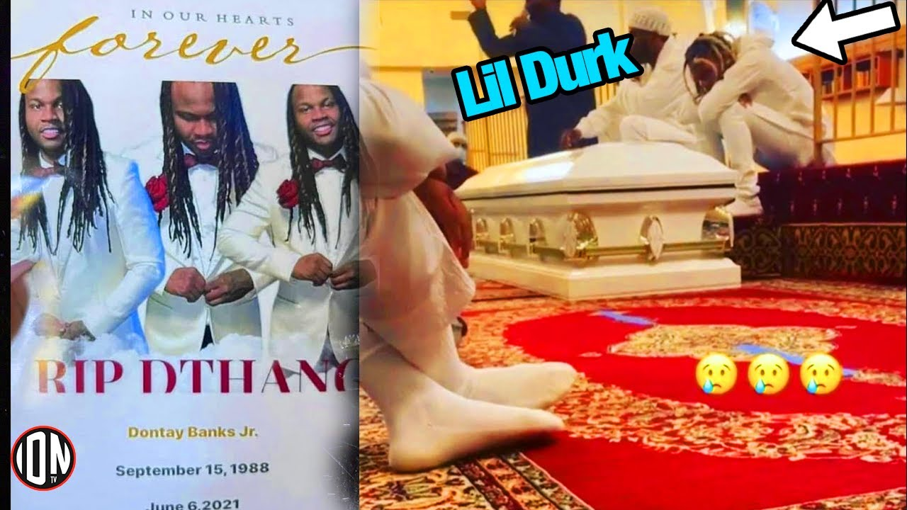 """Lil Durk Attends Brother's """"DThang"""" Funeral Service"""