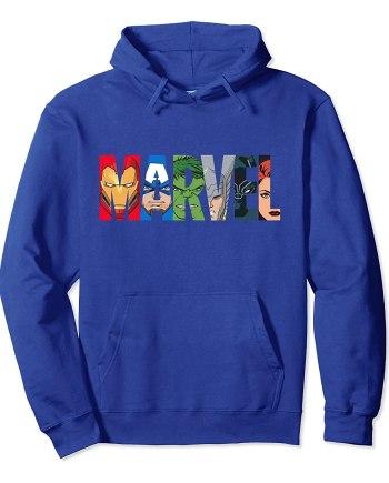 Marvel Logo Avengers Super Heroes Hoodie