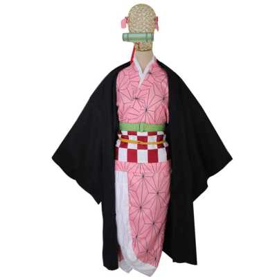 Demon Slayer Kimetsu no Yaiba Kamado Nezuko Cosplay Costume