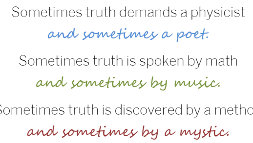 Truth: Something More Than Sacred or Secular