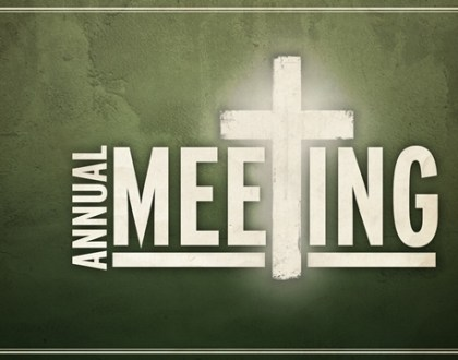 Annual Congregational Meeting Sunday