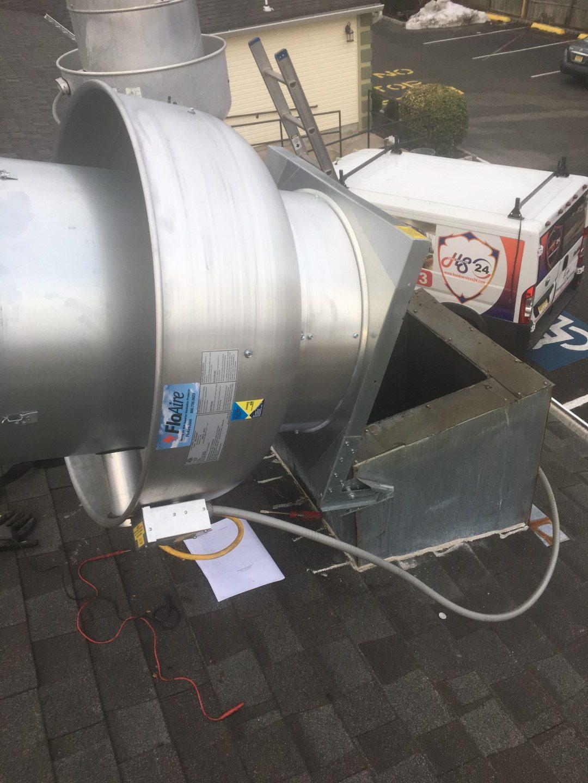 restaurant exhaust fan installation