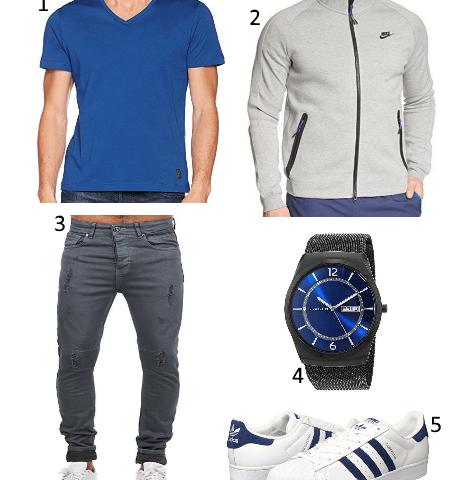 Street Outfit blau
