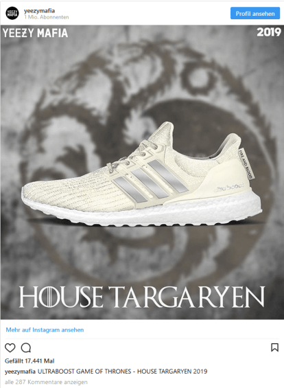 adidas Game of Thrones Targaryen Sneaker