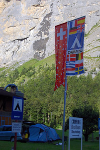 Campground Entrance in Lauterbrunnen, Switzerland (Click for more images)