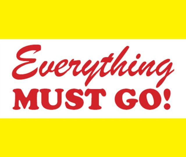 Everything Must Go Event At Proxy Saturday