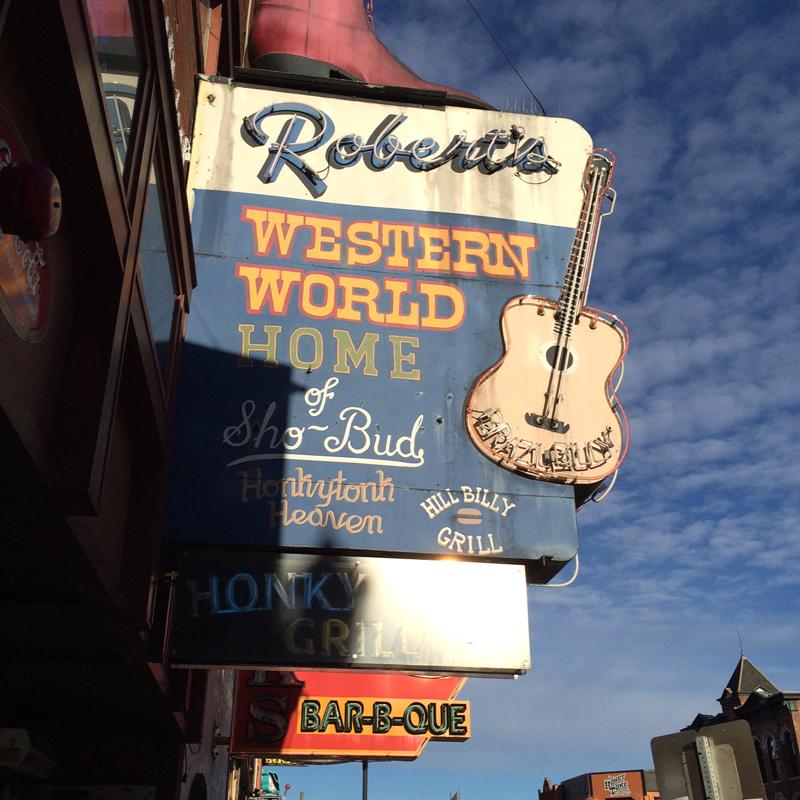 Robert's Wester World Sign