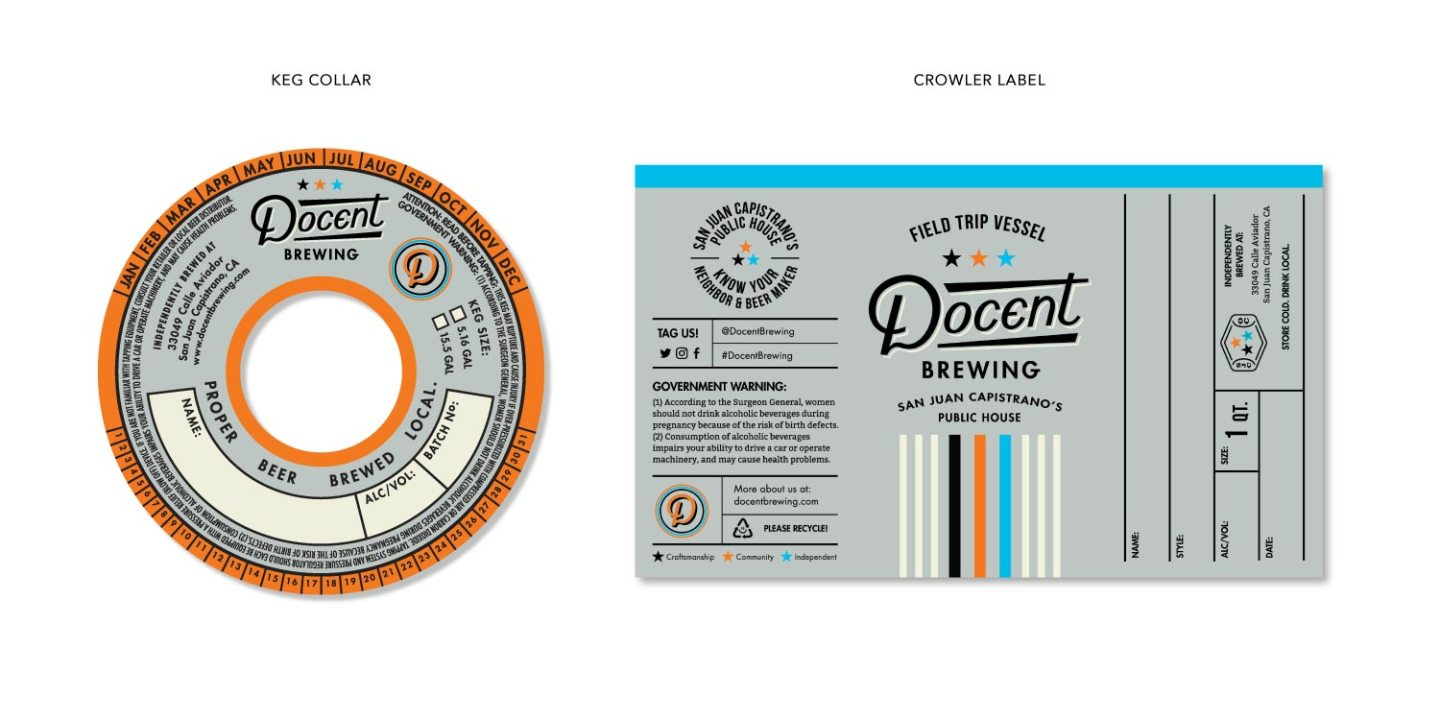 Keg Collar and Beer Label Design
