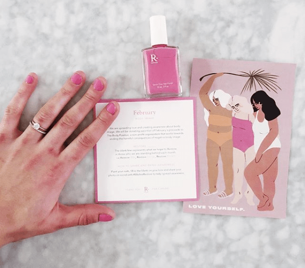 Restore blank polish on hands with postcard