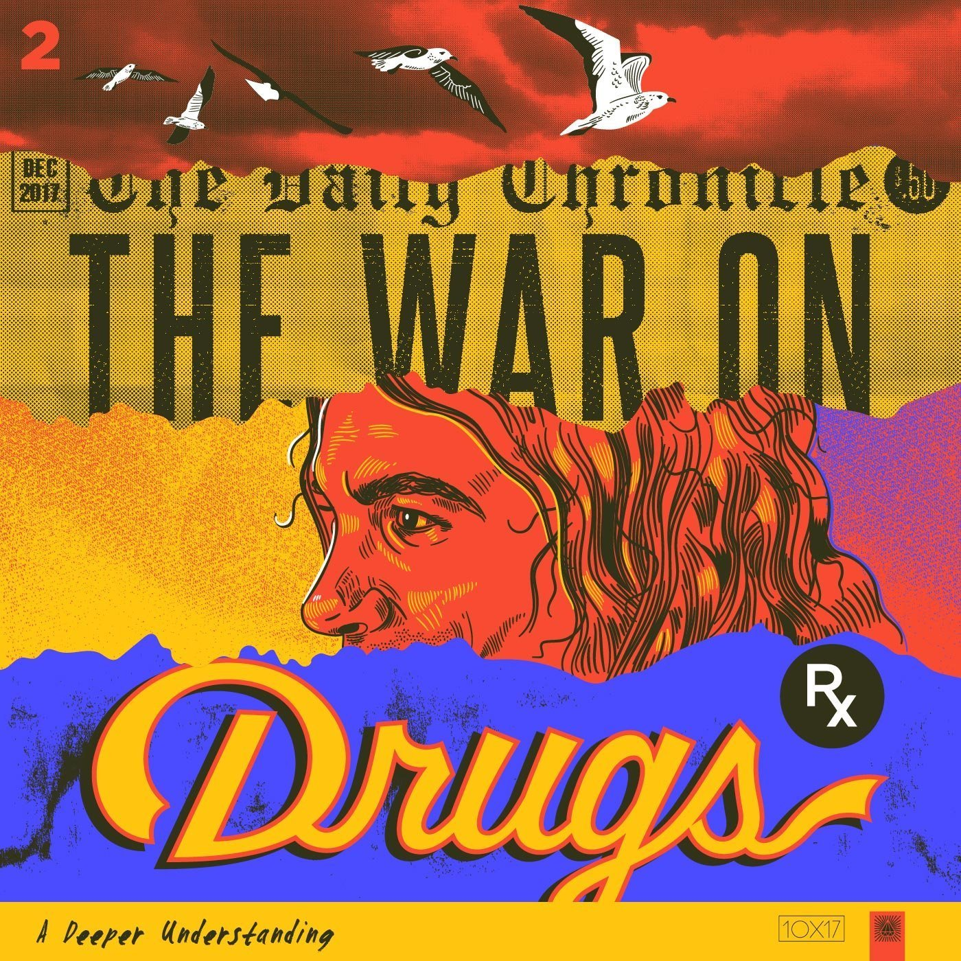 War on Drugs album cover reimagined by Amy Hood - Custom lettering and Adams face