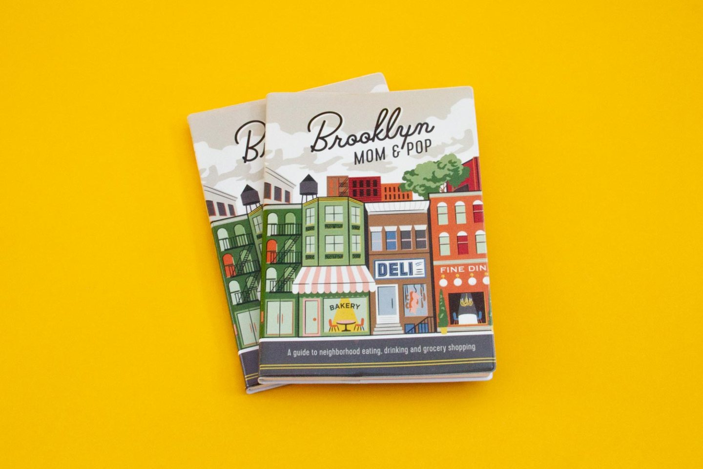 Brooklyn Mom & Pop: A Guide Cover Art Illustration of city by Hoodzpah