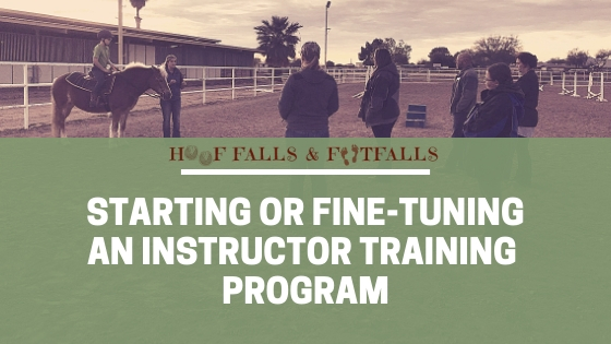 Starting or Fine-tuning A.R. Instructor Training Program