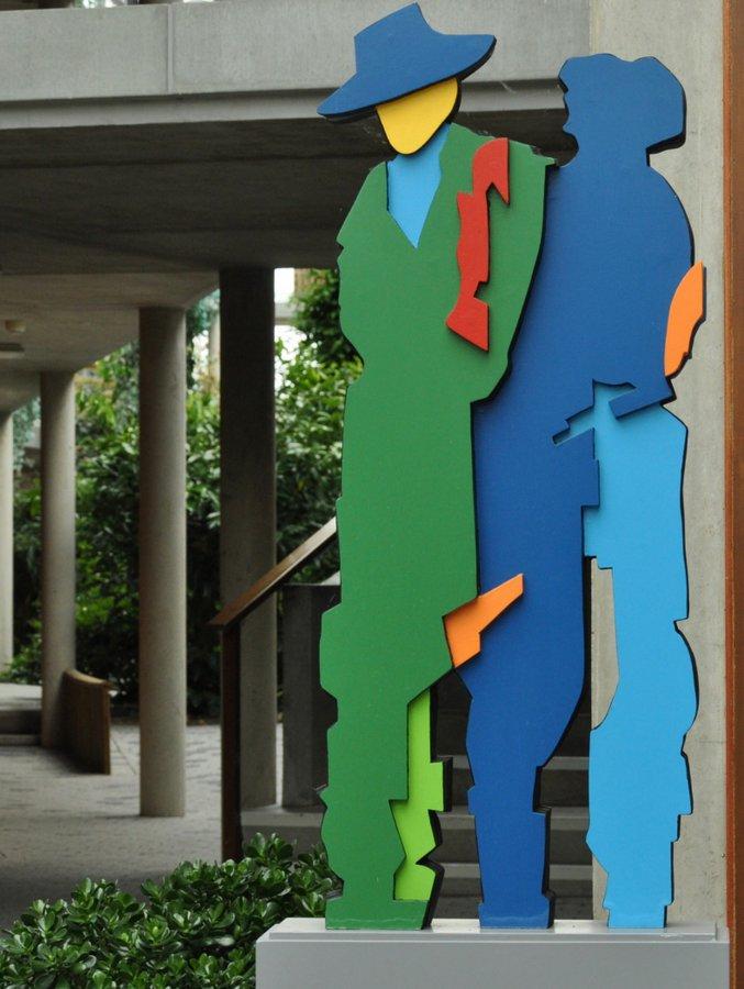 Figuren van Peter Wortel in de Ruskenborg