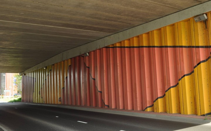 Ineke Heystee Dancing Squares bustunnel onder A7