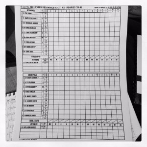 A great touch - you can pick up a pre-made scorecard with the day's lineups.