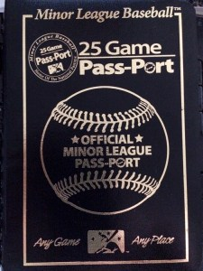 The Minor League Baseball Passport.