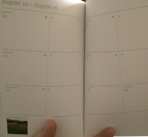 The inside of the new planner.