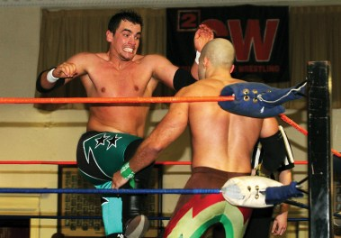 Sean Carr's first 2CW match was vs. Cheech ... he's made it to the top since then. #thanks2CW