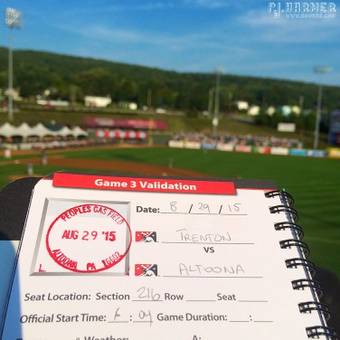 Stamped in for a game in Altoona!
