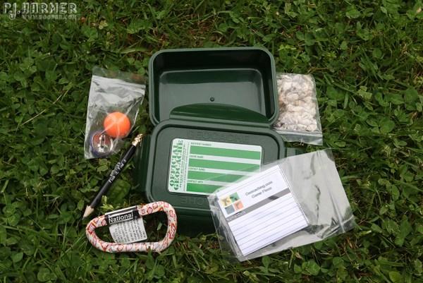 Outside the box: Geocache contents