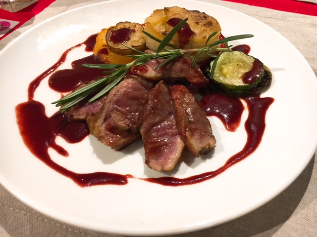 Panfried Duck Breast with Raspberry Sauce