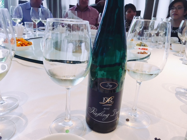 Dry Riesling 2015 was a refreshing start to lunch