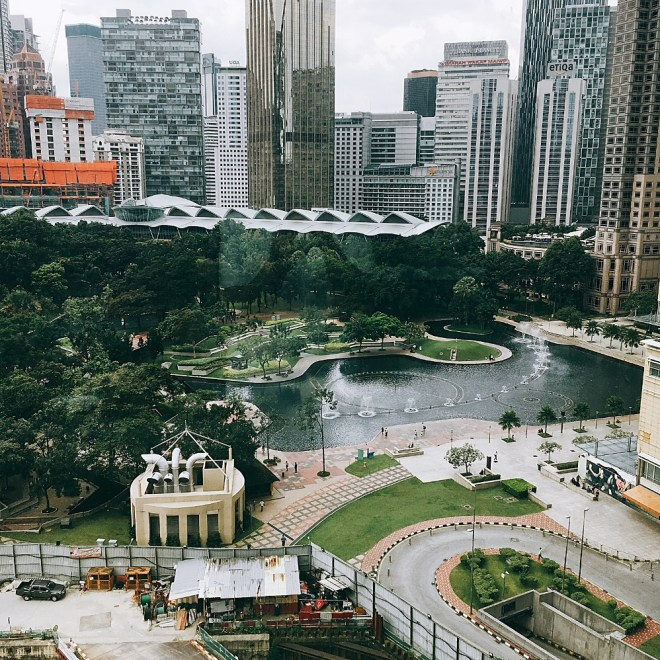 View of the KLCC Park looking down from Curate